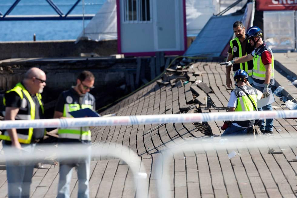 El muelle desplomado en Vigo no había pasado inspecciones técnicas