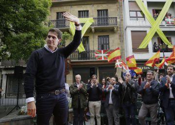 """Rivera en Errenteria: """"Estamos aquí para darle batalla al cáncer de España, el nacionalismo"""""""
