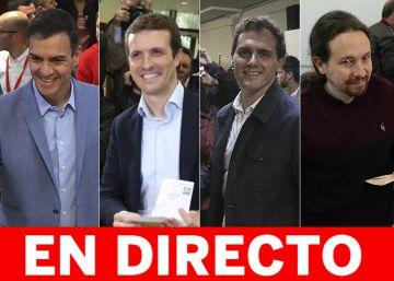 Resultados elecciones generales en directo | El PSOE gana las elecciones y la izquierda se impone a PP, Cs y Vox