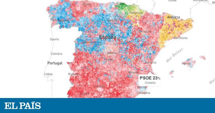 El Mapa Del Resultado De Las Elecciones Generales 2019 Municipio A