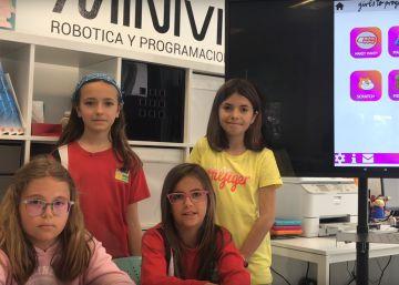 Las niñas que han programado su propia ?app? y se proponen llegar hasta Silicon Valley