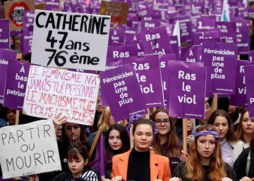 Histórica manifestación en París para exigir más esfuerzos contra la violencia machista