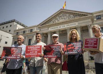 Movilización en el Congreso para aprobar la ley de eutanasia este año