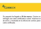 Un ataque amenaza los 'emails' españoles suplantando a Correos