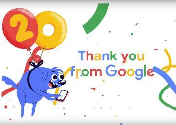Google, el gigante tecnológico, celebra su 20º aniversario