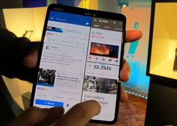 Así funciona el móvil plegable de Samsung